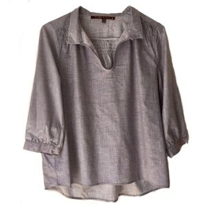 Twelfth of Eleven Three Quarter Sleeve Peasant Top